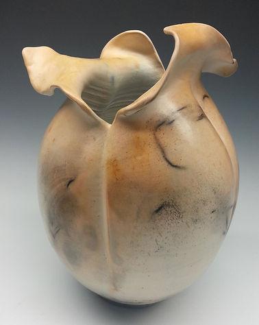 Pod Vase Tan Saggar by Vicki Gardner