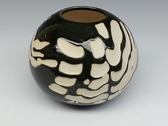 Pottery Vase 5 Black and White