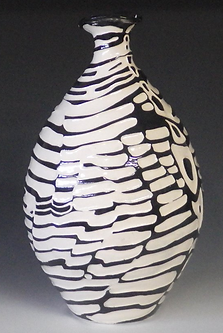 Parallel Lines black and white pottery
