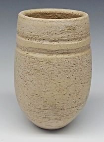 Textured Pottery Natural Clay Small Vase by Vicki Gardner