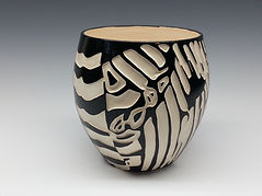 Pottery Vase 6 Black and White