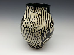 Pottery Vase 3 Black and White