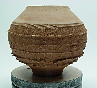 Textured Pottery Clay Pot by Vicki Gardner