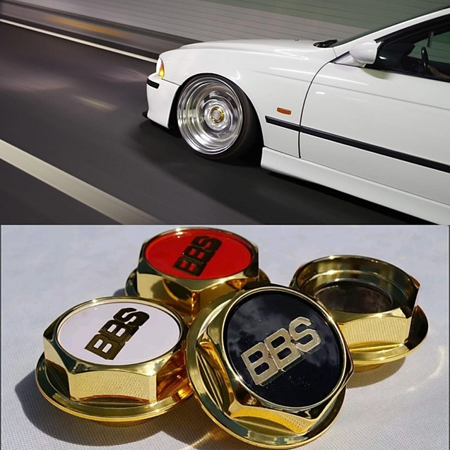 Hex Nuts Gold full hight for BBS RS