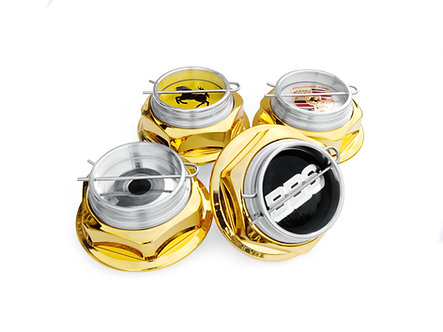 Hex Nut Kit Gold  V2 full hight for BBS RC series 300