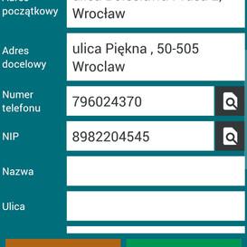Możliwość edycji adresu rozpoczęcia i zakończenia usługi