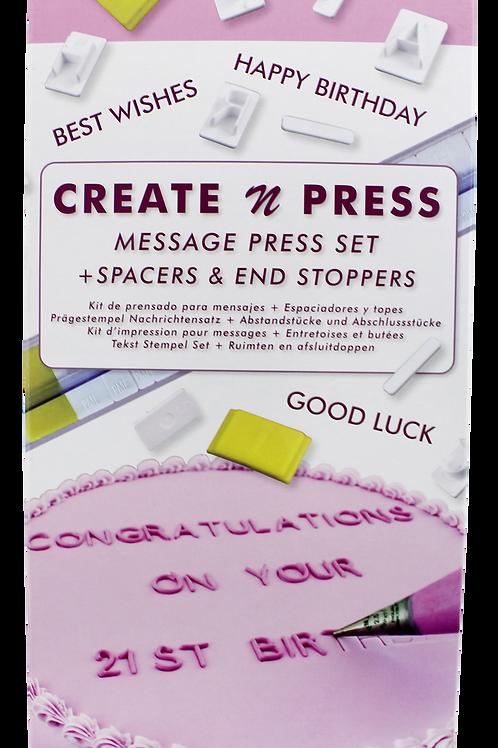 CP302 PME 壓印組 字母 + 數字 CREATE 'N' PRESS MESSAGE SET