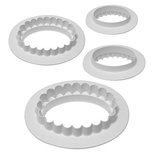OV515 PME 平面 & 花邊 雙面橢圓形塑膠切模 4件組 PLAIN & FLUTED OVAL SET OF 4