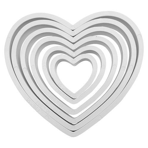 PNH2 PME 塑膠切模 心形組 HEART  PLASTIC CUTTERS SET