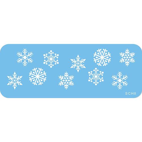 SCH8 JEM 雪花 簍空模印版 SNOWFLAKES STENCILS