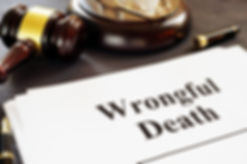 Wrongful Death report and gavel in a cou