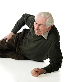 A vertical image of a senior man on the
