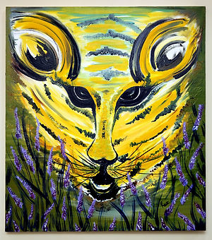 Oil Painting on Canvas - Tiger