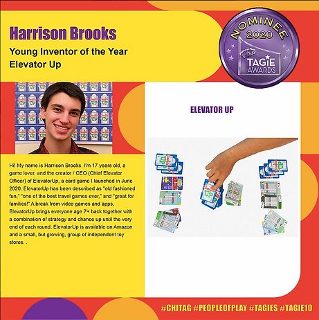 Harrison Brooks, ElevatorUp TAGIE Nomination