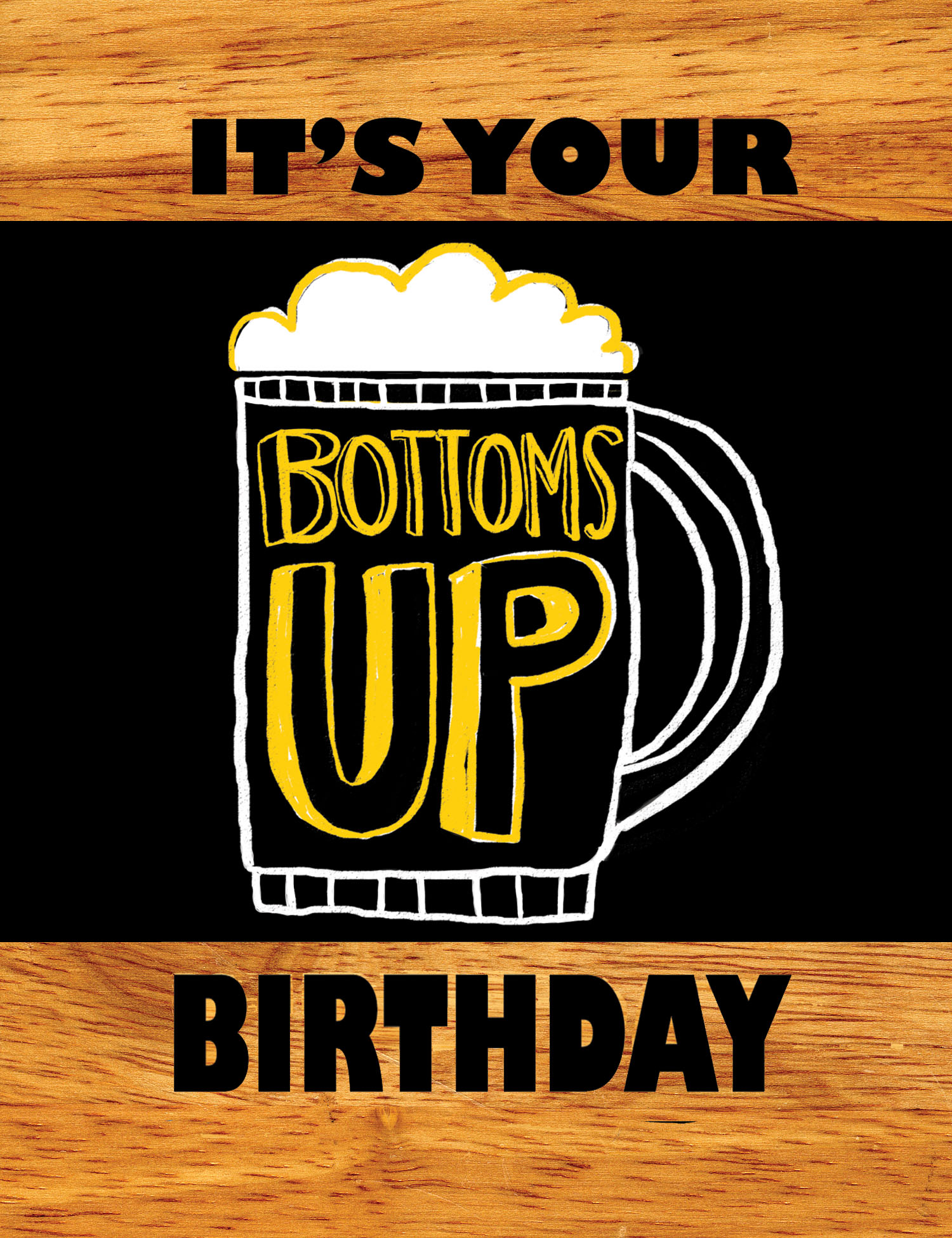 Bottoms Up illustration & lettering