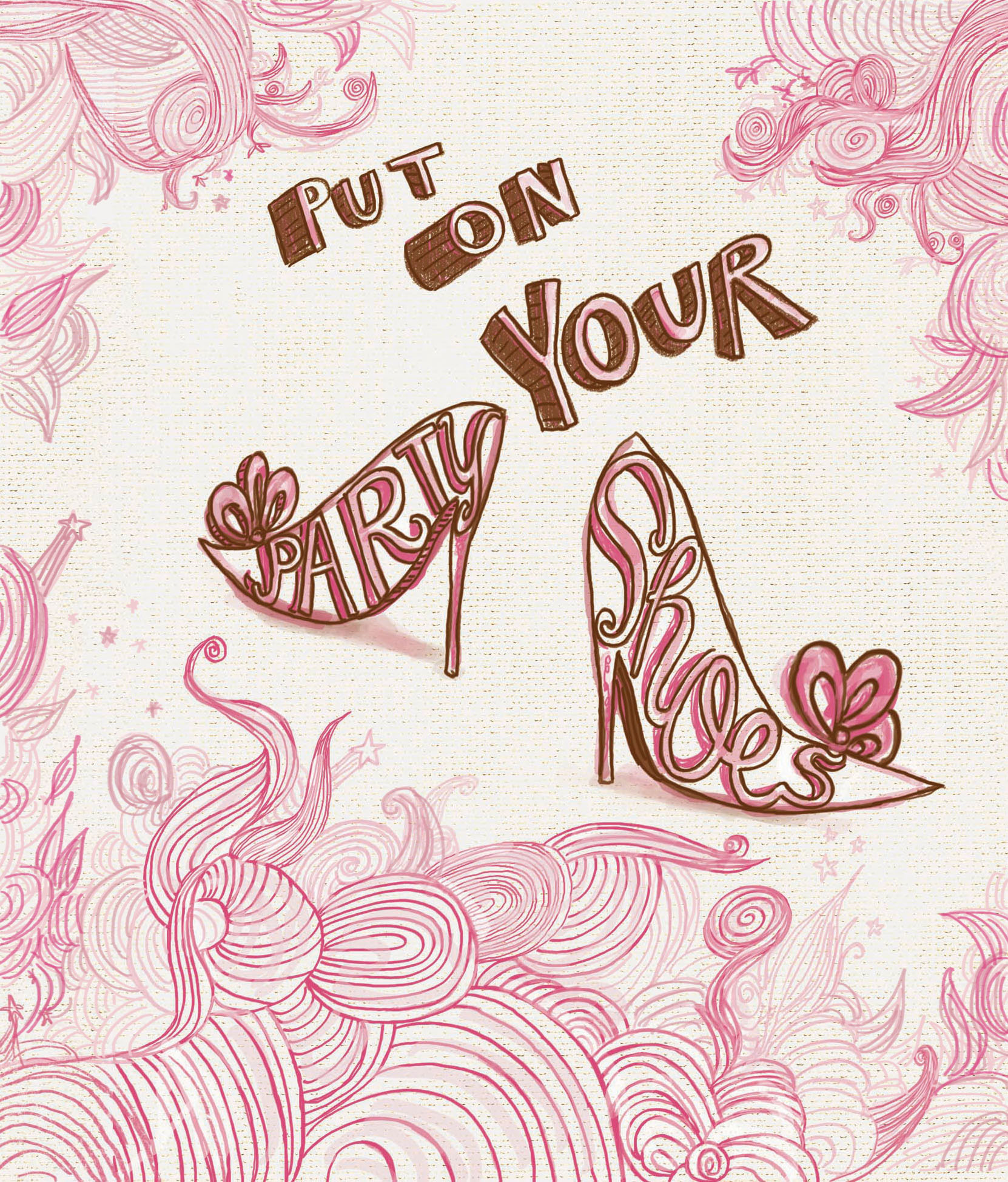 Party Shoes card design