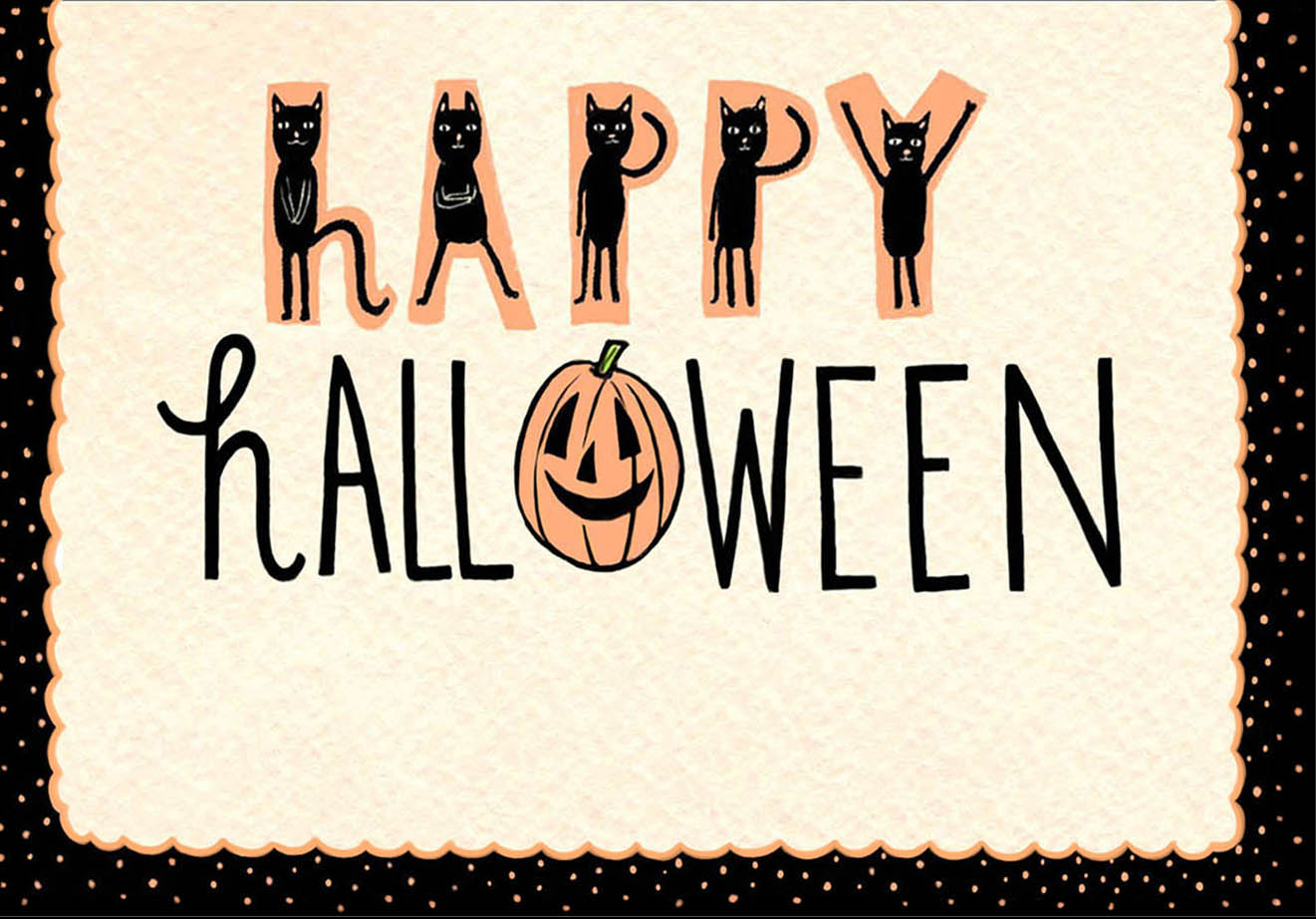 "Hand-lettered ""Happy Halloween"""