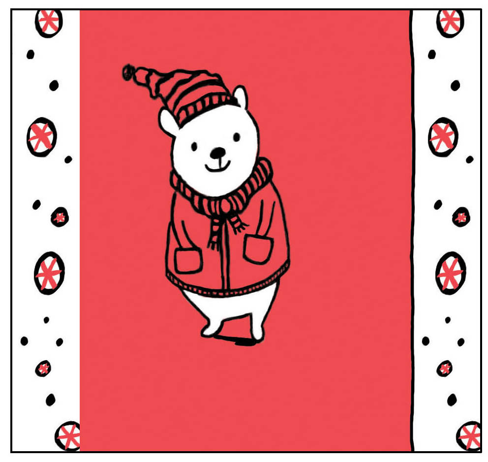 Holiday Bear money holder card