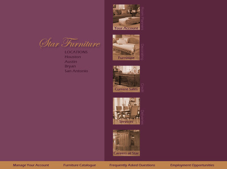 Web Design // Star Furniture / Mondrian