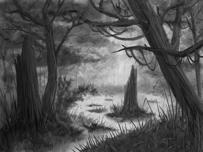 Digital Painting // Secret Places