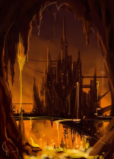 Concept Art // Dwellish City