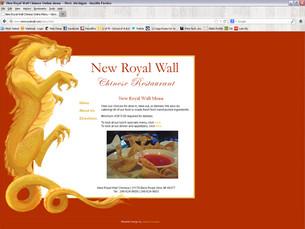 Web Design // New Royal Wall Chinese