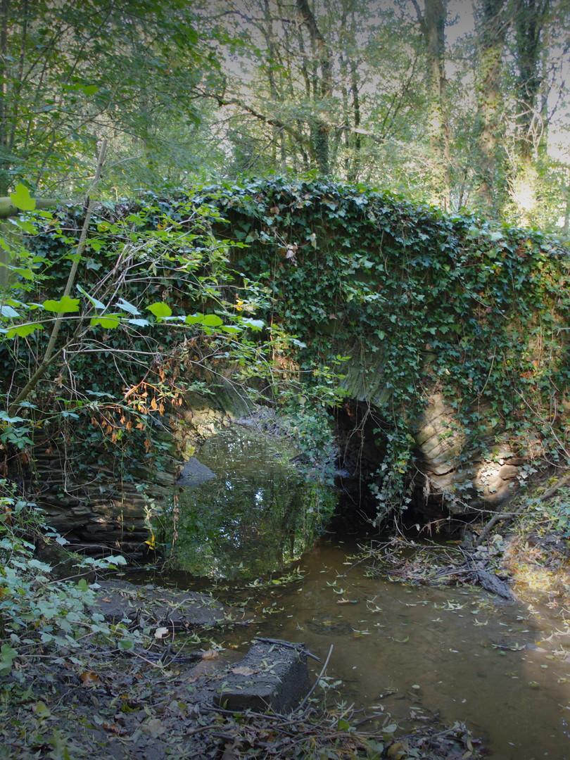 Un pont en pierre sur la commune d'Haute-Goulaine