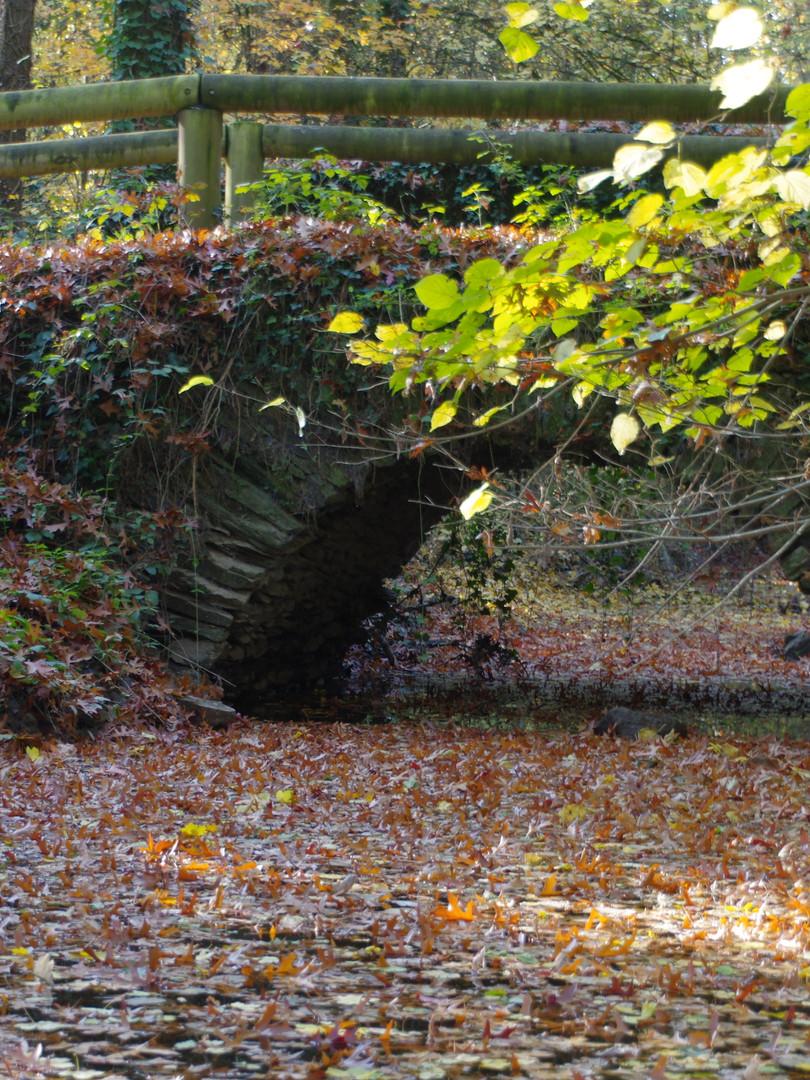 Un pont en pierre en automne