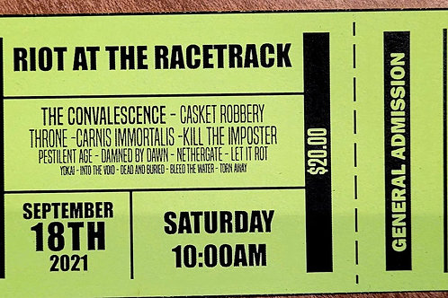 Riot at the Racetrack Tickets Sept 18th 2021
