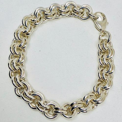 Chain Weave Sterling Silver Bracelet
