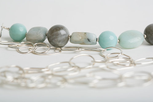 Silver and Stone Necklace