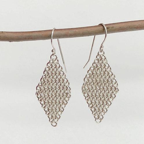 Diamond Chainmaille Earrings