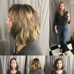 _amber_snowden wanted a whole new look💕 from a long, sunny blonde to a textured bob, a darker base