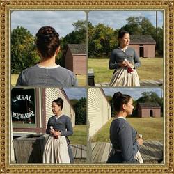 The lovely Angela #historicalhair #periodfilm