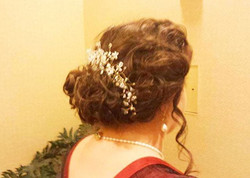 An updo, a la 1910, for a lovely client on her way to a ball!
