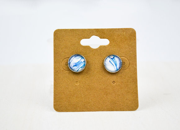 Acrylic Pour Art Stud Earrings