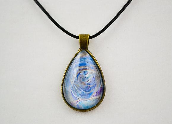 Acrylic Pour Art Tear Drop Pendant