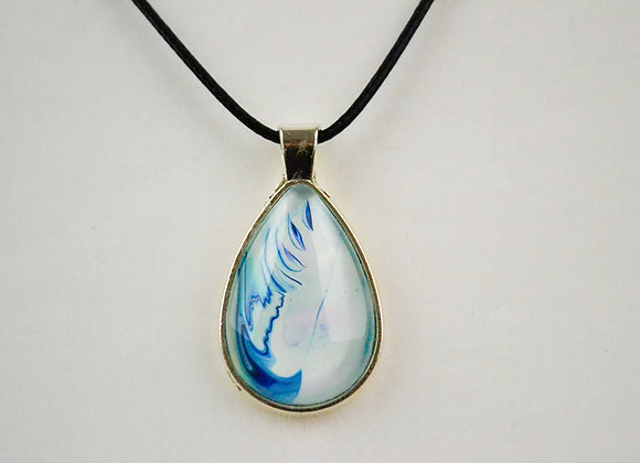 Acrylic Pour Art Tear Drop Pendant