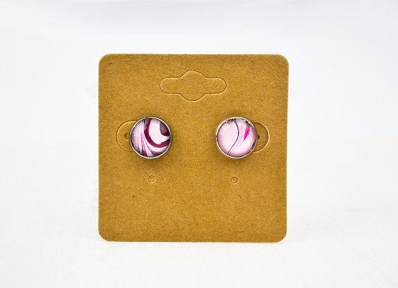 Acrylic Pour Art Stud Earrings