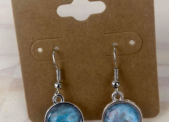 Acrylic Pour Art Earrings