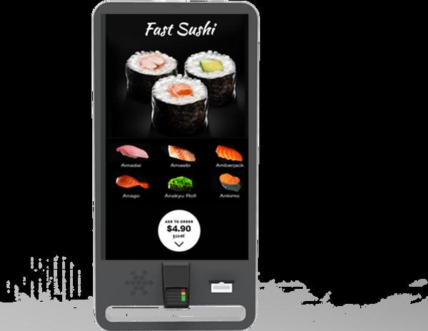 Self orderin kiosk for restaurants
