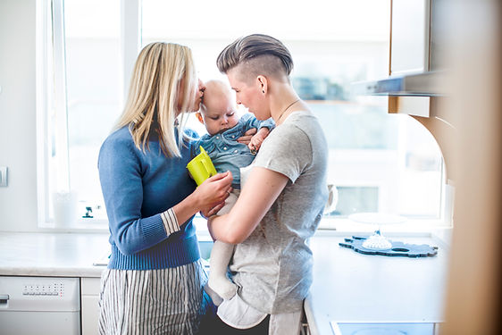 Paar mit ihrem Baby