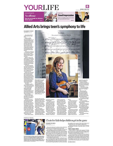 Allied Arts brings teen's symphony to li