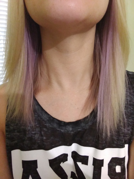 How I dyed my hair purple and rose gold