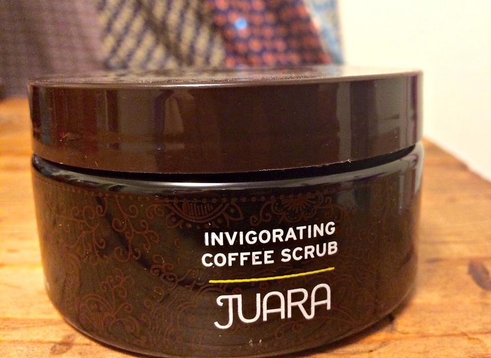A beauty blogger features invigorating coffee scrub by Juara.