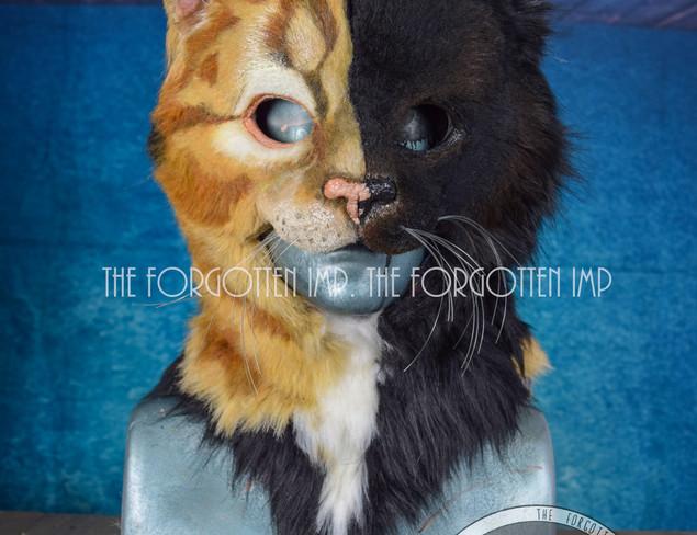 Ginger/black Tabby 3/4 Cat mask