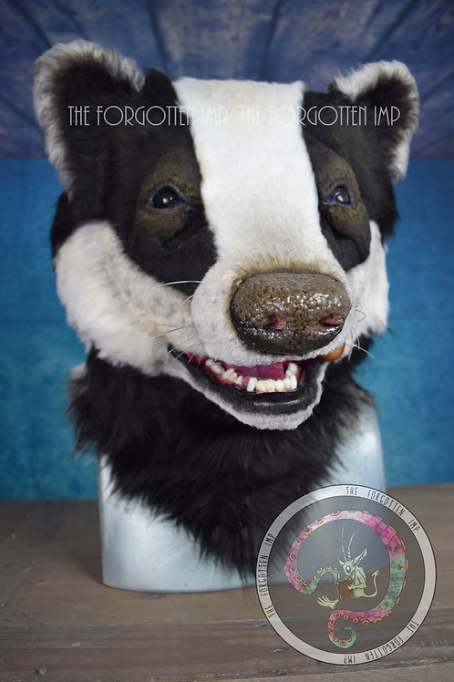 Wearable Badger Head