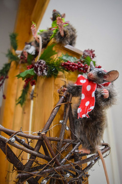 Xmas Light Brown Mouse