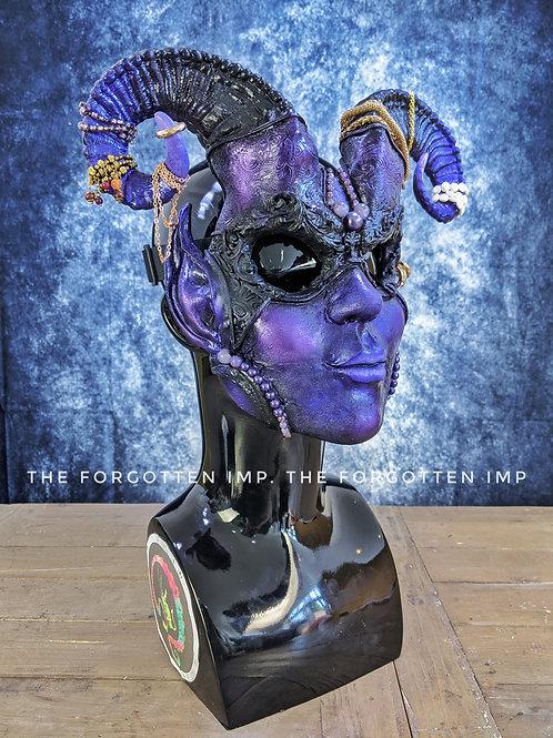 Purple Horned Fae Mask