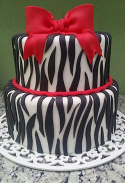 Bolo zebra vermelho